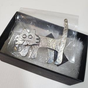 Silpada Designs 925 Silver Cat Pin Brooch